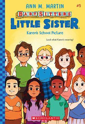 Karen's school picture. 5 Book cover